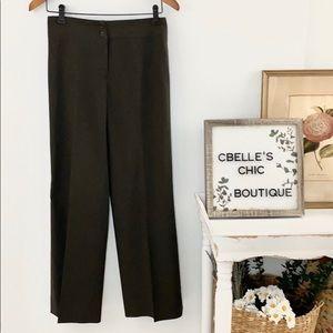 Armani Collezioni Antinea Dark Olive Pants Sz 4